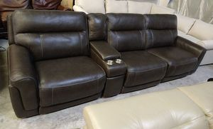 Summerbridge 4pc Italian leather sectional sofa for Sale in Decatur, GA