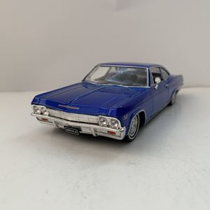 Used, NEW Large 1965 Blue Chevy Impala SS 396 Muscle Car Toy Diecast Metal Model Scale 1/24 1:24 124 Vintage 1960s Chevrolet Classic for Sale for sale  Ewing Township, NJ