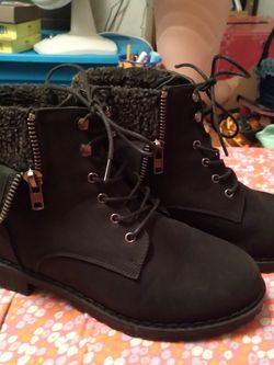 Black Fashion Combat Boots for Sale in Selma,  AL