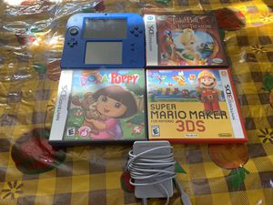 Nintendo 2ds with three games for Sale in Pomona, CA