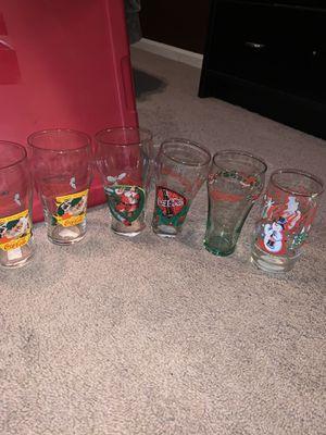 10 coca-cola glasses for Sale in Severn, MD