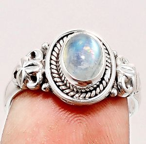 Rainbow Moonstone - India 925 Ring Size 8 for Sale in San Francisco, CA