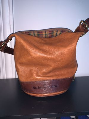 Vintage brown Marino Orlandi Heavy Leather Bucket Bag for Sale in Chicago, IL
