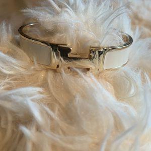 Women's clic clac H white enamel bracelet for Sale in Tracy, CA