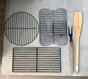 Barbecue Grill Grids Metal Net Outdoor Picnic and BBQ cooking tool, 5pcs of set for Sale in Los Angeles, CA