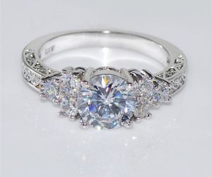 White Sapphire Wedding Ring 10KT White Gold Jewelry Sizes6/7/8/9are available for Sale in Moreno Valley, CA