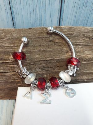 NEW Red Bead Delta Sigma Theta Elephant Charm Bangle ( SHIPPING ONLY) for Sale in Benbrook, TX