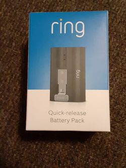 Ring Quick-Release Battery Pack for Sale in Portland,  OR