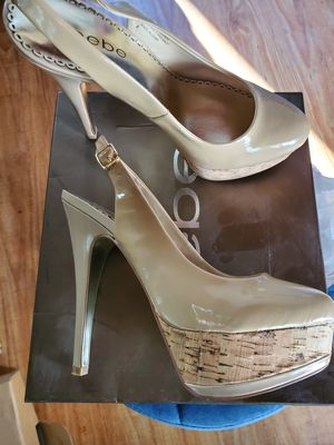 Bebe Betty nude size 8 platform heels new for Sale in West Covina, CA