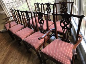 Hickory Chair Set of 8 Chippendale James River Collection for Sale in Great Falls, VA