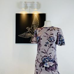 Burberry Anthia Silk Floral Dress Sz 4 for Sale in Los Angeles,  CA