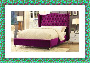 Purple queen platform bed frame for Sale in NEW CARROLLTN, MD