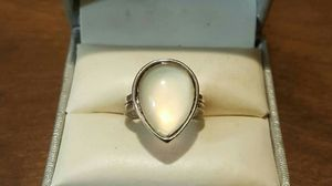 Vintage SS Genuine Opal TearDrop Ring. for Sale in Providence, RI