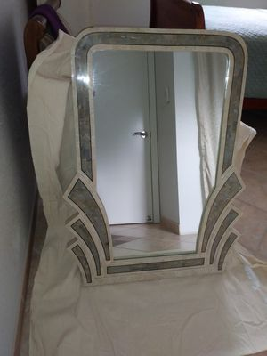 Wall mirror - marble with brass trim for Sale in Walnut Creek, CA