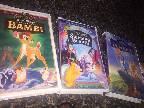 Disney VHS LION KING SLEEPING BEAUTY BAMBI