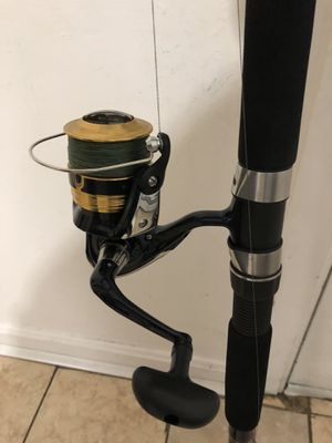 Caña Ugly Stik 13 feet, Reel 4000, with line 40 pounds for Sale in Cranston, RI