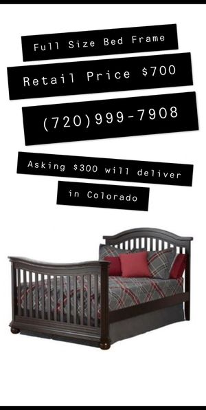 Full Size Bed Frame ***No Matress*** for Sale in Lafayette, CO