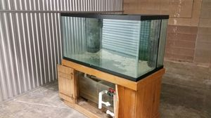 """Saltwater fish tank. $300. OBO. Must pick up. 4ft wide, 2ft deep, 25"""" tall. Stand is 28"""" tall. for Sale in Denver, CO"""