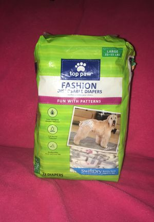 DECORATIVE LARGE DOGGY DIAPERS (female) for Sale in Georgetown, LA