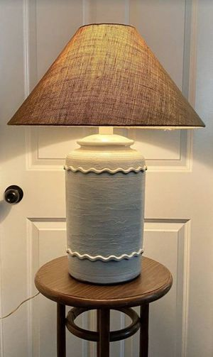 Vintage Farmhouse Country Barn Cottage Rustic Sand Beehive Ginger Jar Table Lamp Living Room Bedroom With Juta Woven Shade for Sale in Chapel Hill, NC
