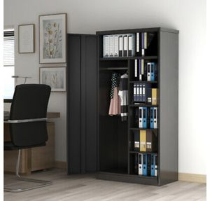 "71"" Lockable Garage Tools Office Storage Cabinet Metal w/4 Adjustable Shelves for Sale in Los Angeles, CA"