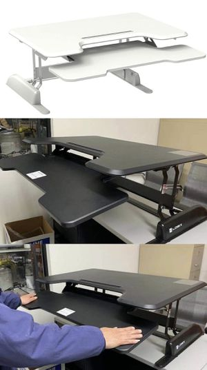 "New in box Large 36"" wide height adjustable stand up desk desktop laptop computer desk Black or White color for Sale in Whittier, CA"