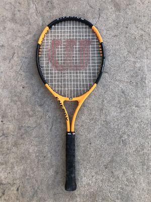 Wilson tennis racket orange black titanium energy grip 4 3/8 for Sale in San Diego, CA