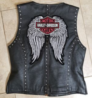 Harley Davidson small swaroski crystal leather motorcycle vest for Sale in Valrico, FL