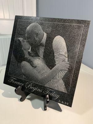 Custom photo engraved granite tile for Sale in Portage, MI