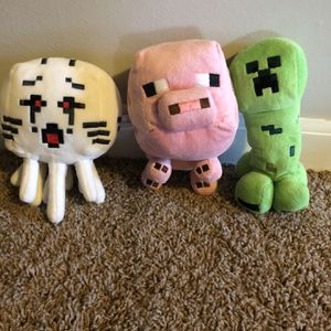 Minecraft Mob Plushie 3pc for Sale in Plainfield, IL