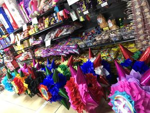 Piñatas balloon party supplies decorations layaway plans candy tutus much more for Sale in Fresno, CA
