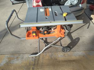 Rigid 10in table saw and cart/stand for Sale in Denver, CO