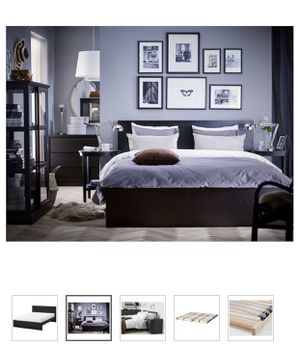 IKea MALM Bed frame Lower Style, black-brown, Queen Size for Sale in Lynnwood, WA