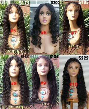 Six New 100% Human Hair Lace Top Wigs for Sale in Lanham, MD