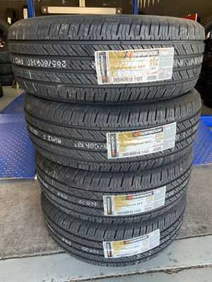 265/60/18 New set of Hankook tires installed for Sale in Rancho Cucamonga, CA