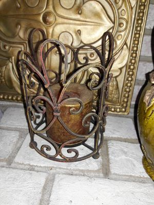 Rustic iron candle holders CANDLES NOT INCLUDED, PICK UP AT EAST ORLANDO for Sale in Orlando, FL