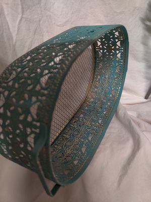Patina painted set metal basket, candle sticks for Sale in Spring, TX