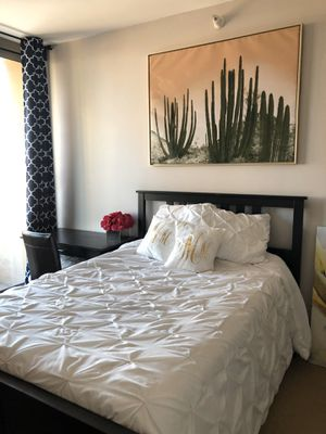 Full - Dark Brown Bed Frame and Headboard Black for Sale in Chicago, IL