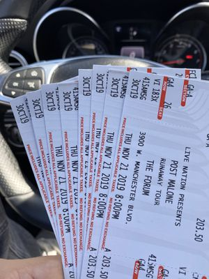 Post Malone one last ticket for floor tonight beat offer takes it for Sale in Los Angeles, CA