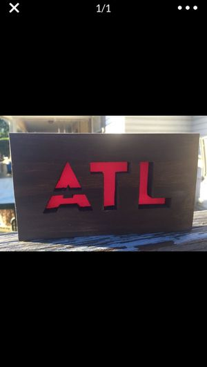 ATL Wood Sign w/hanger or magnets for Sale in Center Point, AL