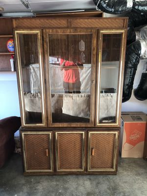 Large Wooden/glass display cabinet for Sale in San Francisco, CA
