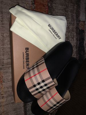 Men burberry slides for Sale in Glendale, AZ
