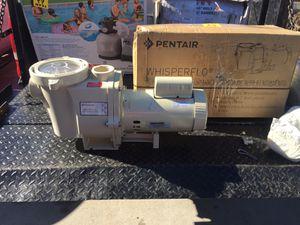 Pentair pool pump whisperflo 1 hp for Sale in Las Vegas, NV
