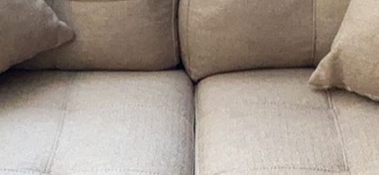 Barley used love seat, my grandma is moving in March so need it gone by then. Comes with the two pillows. White stain should come out easily. Pet free for Sale in Broomfield,  CO