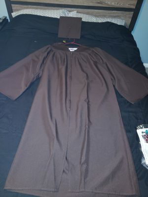 Brown graduation cap and gown set for Sale in Galloway, NJ