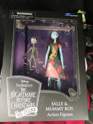 The Nightmare Before Christmas Sally & Mummy Boy 25 Years Anniversary Figures for Sale in San Jose, CA