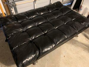 Black Faux Leather Futon for Sale in Deerfield Beach, FL