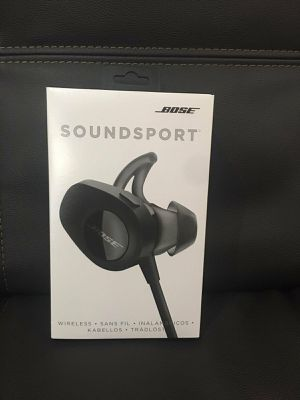 Bose Sound Sport wireless Bluetooth headphones Black Nwb open box never used for Sale in Stoughton, MA