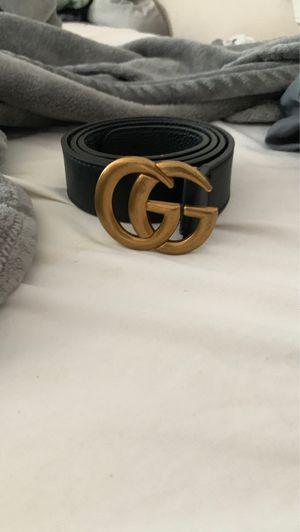 Gucci belt gold/black size 46 for Sale in Nashville, TN