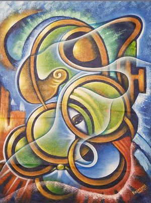 Felixama, HAITIAN ART, Carribean art, Abstract, 26x22 for Sale in Queens, NY
